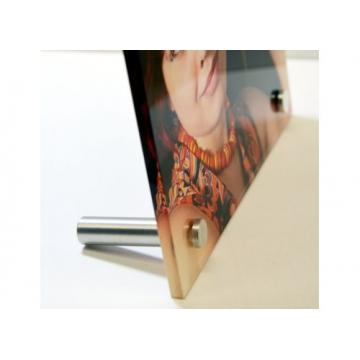 Glasfoto Alu-Fuß
